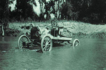 Ford Model T number 2 crosses a stream Ferens Collection 4