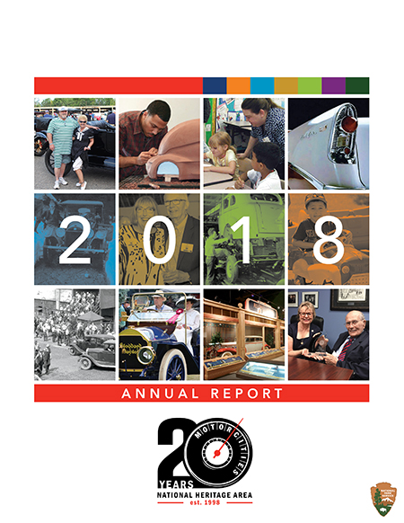 MotorCities Annual Report 2018 cover