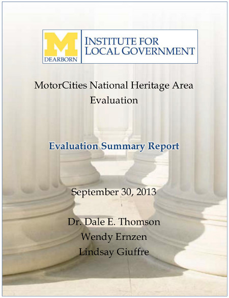 MotorCities Evaluation Summary Report 2013