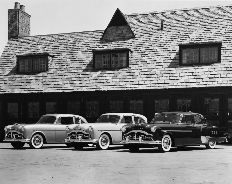Three 1951 Packards on display at the Packard Proving Grounds 3 NAHC RESIZED