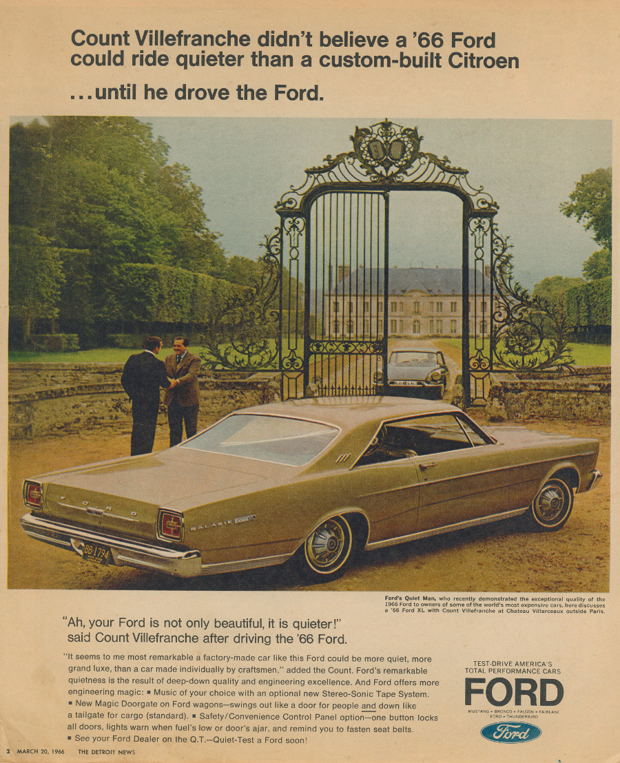 1966 Ford ad 2 Tate Collection RESIZED