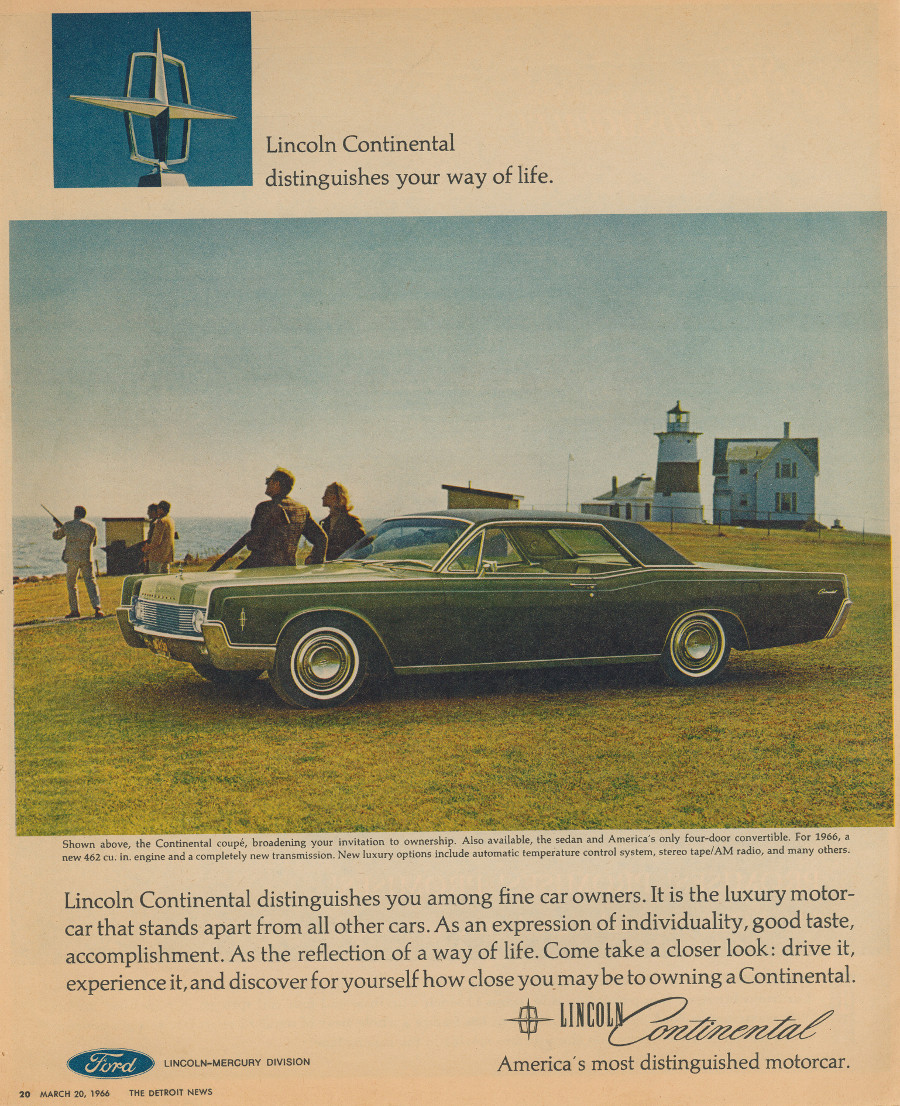 1966 Lincoln ad 5 Tate Collection RESIZED