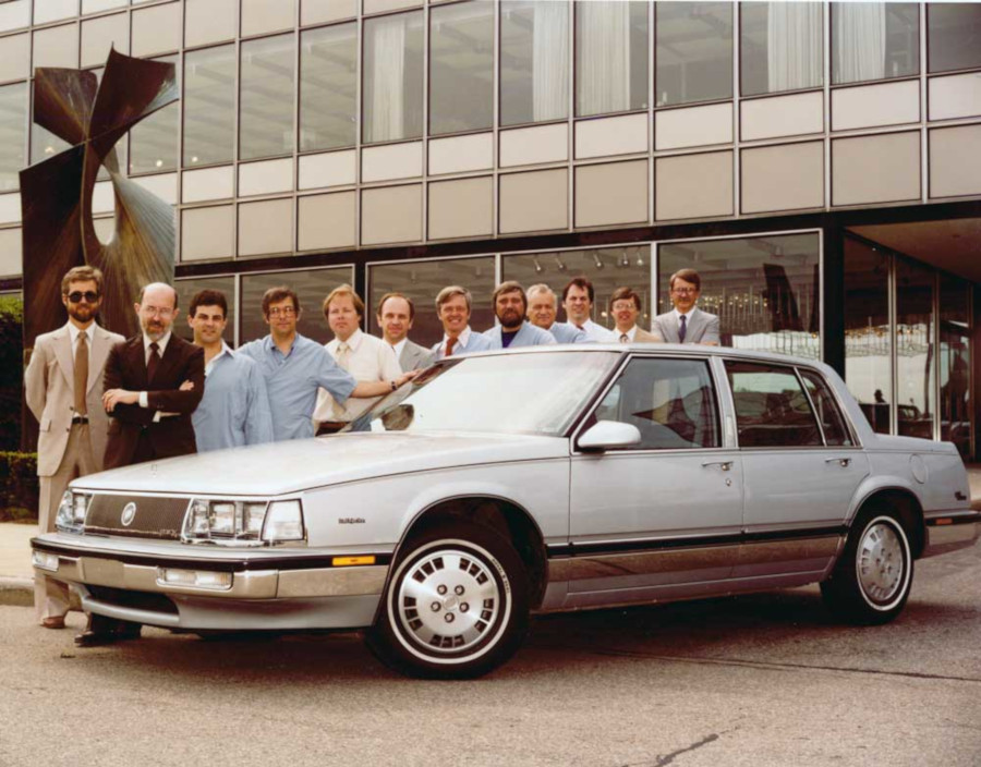 Bill Porter and his GM Design staff with a Buick model GM Archives RESIZED 6
