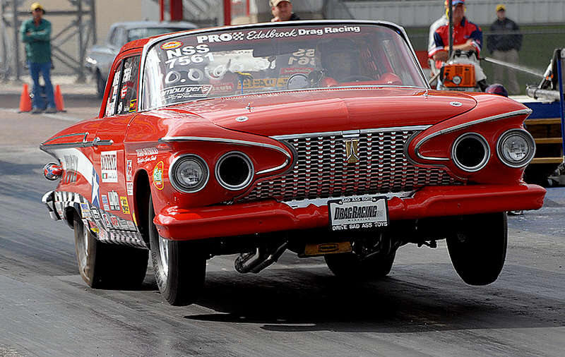 1961 Plymouth Savoy drag racer Edelbrock Drag Racing 8
