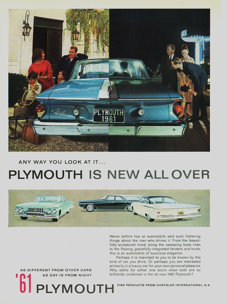 1961 Plymouth magazine ad Chrysler Archives 6