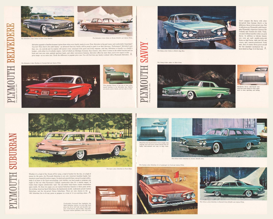 1961 Plymouth sales brochure Chrysler Archives RESIZED 7