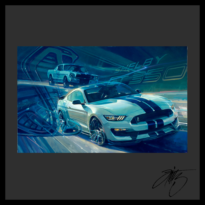 2016 Mustang Shelby GT 350 Poster by Tom Fritz 2