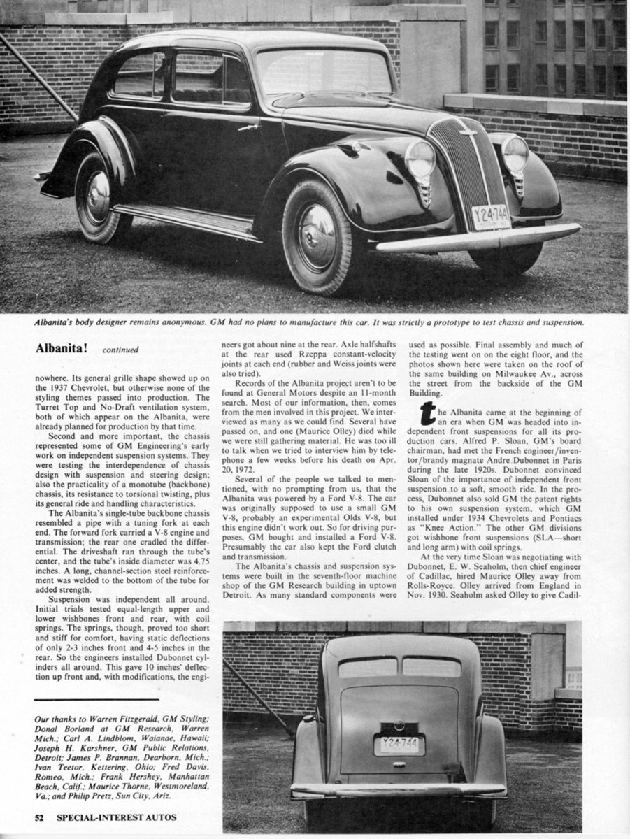 Albanita story by Special Interest Autos magazine Feb March 1973 5