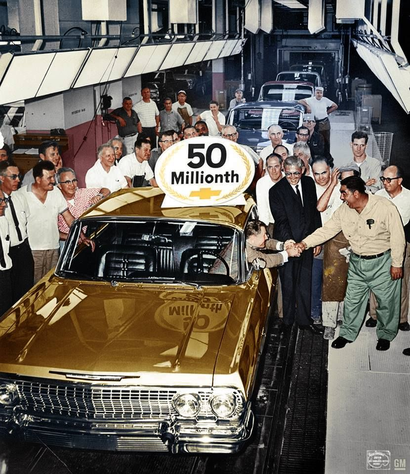 1963 Impala 50 millionth Chevy vehicle manufactured at Tarry Town NY GM Archives 4