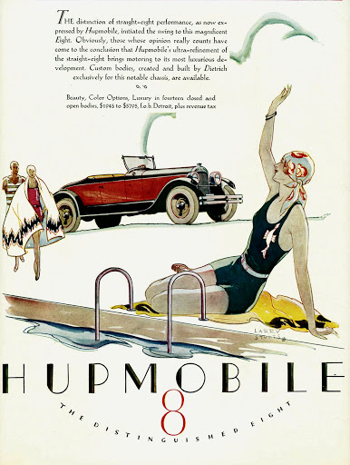 A 1920s Hupmobile advertisement
