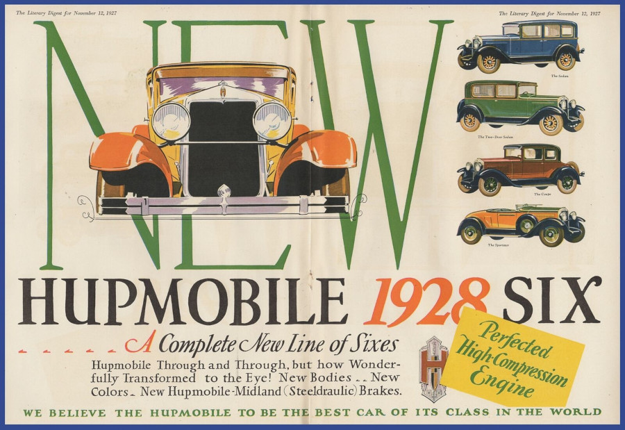 A 1928 model year Hupmobile ad from November 1927 RESIZED