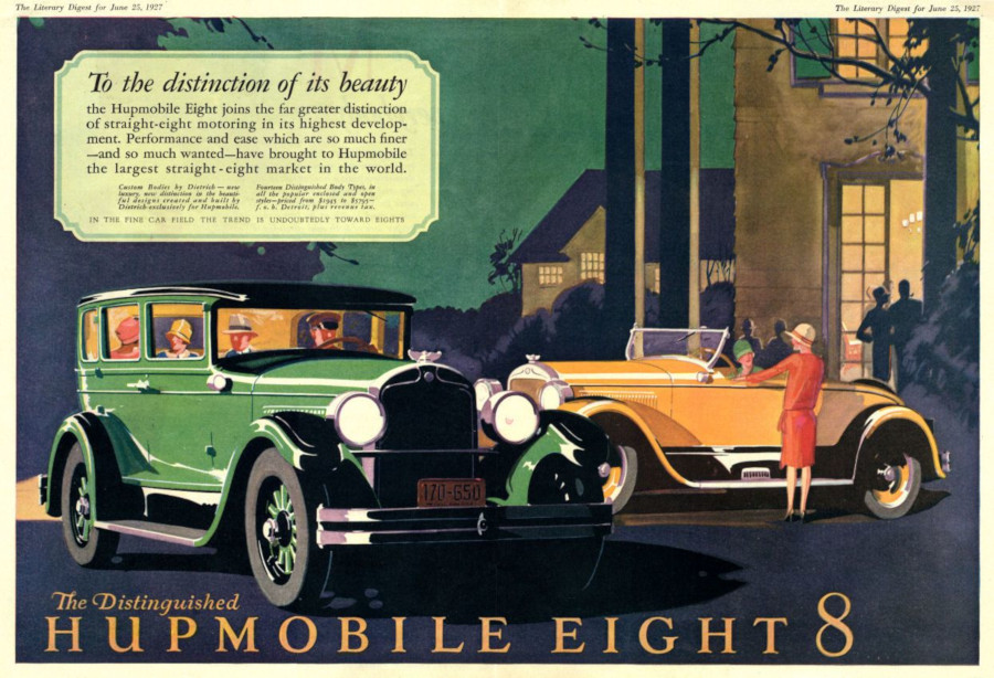 A June 1927 Hupmobile Eight ad RESIZED