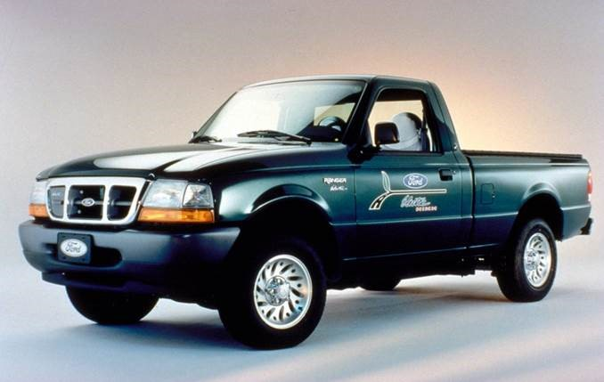 Limited production electric-powered Ford Ranger used lead acid and NiMH batteries