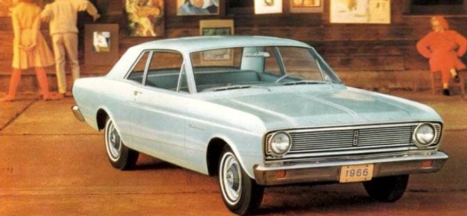 The Ford Falcon was considered for electricification in the late 1960s Ford brochure image