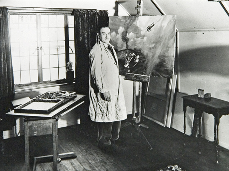 Crosby in art studio 1