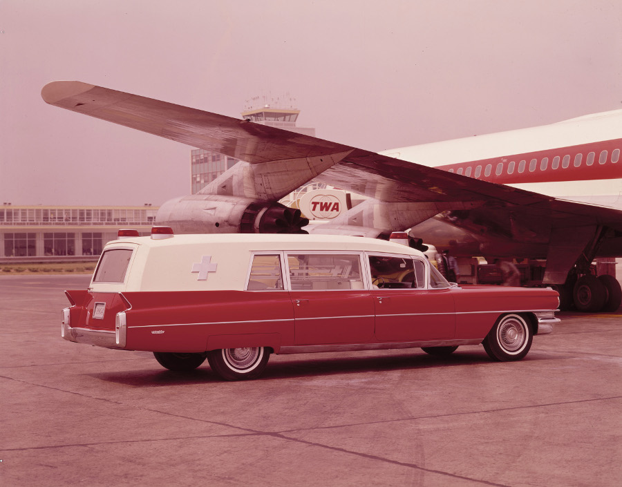 1964 Cadillac ambulance at airport NAHC 5 RESIZED