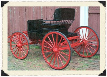 A black and red C.R. Patterson carriage Greenfield Historical Society 1