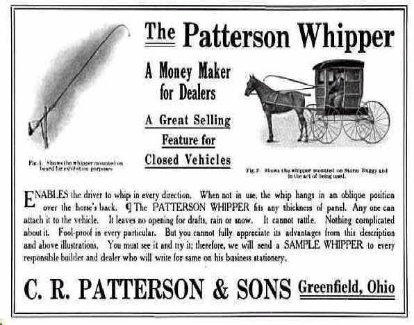 Ad for Patterson Whipper horse carriage v kweli.com 3