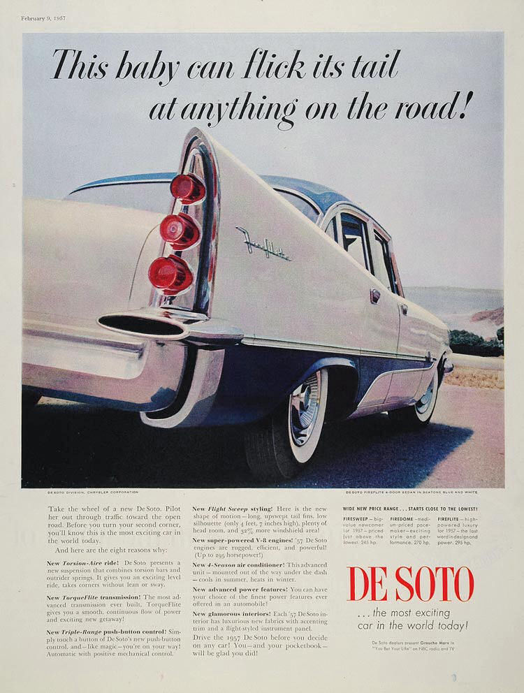 1957 DeSoto Ad Robert Tate Collection Chrysler Corporation 6