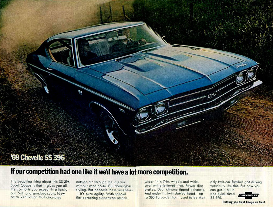 1969 Chevy Chevelle SS 396 ad GM Robert Tate Collection RESIZED 7