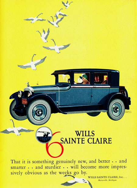 1925 Wills Sainte Claire ad Robert Tate Collection 3