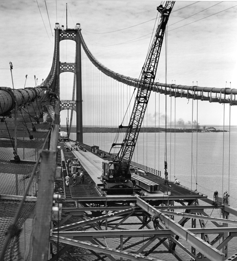 Crossing Bridges image from Mackinac Bridge Construction Gallery 2