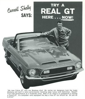 Carroll Shelby Cobra GT ad Ferens Collection 5