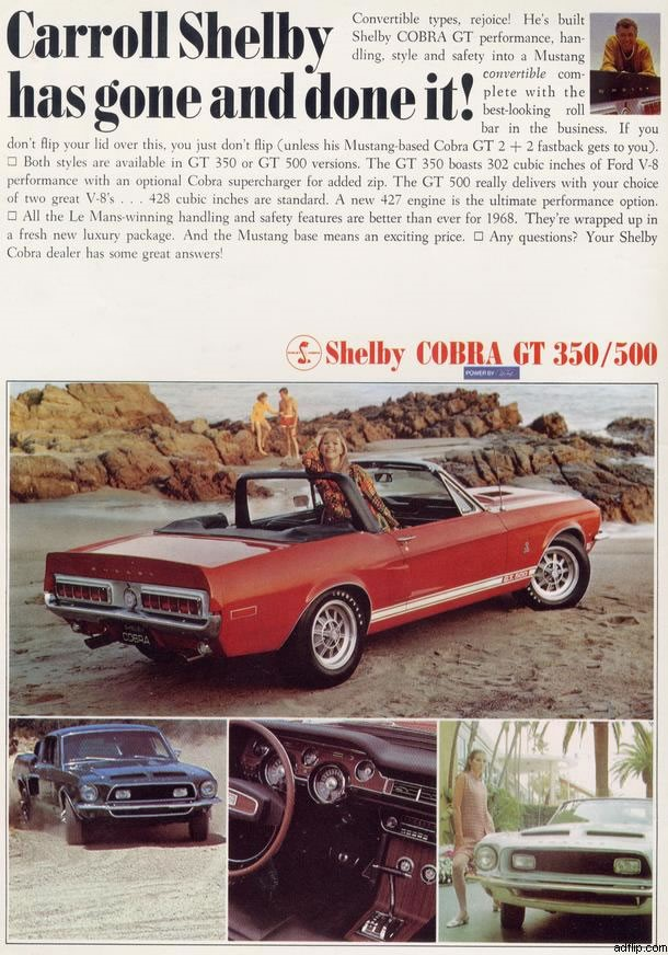 Shelby Cobra GT magazine ad Ferens Collection 2