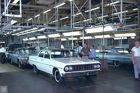 1964 Chevelle models on the assembly line GM Media Archives