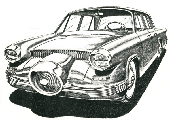 Drawing of Concept Model for 1954 Motor Trend contest Motor Trend 1