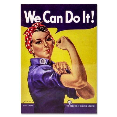 The iconic Rosie the Riveter poster US Army 8