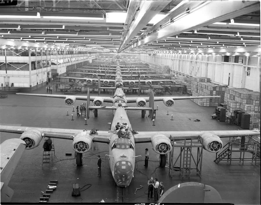 The production line at Willow Run Yankee Air Museum RESIZED 3