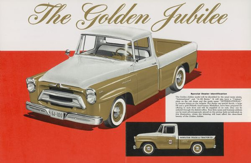 International Truck ad for 1957 anniversary series Robert Tate Collection 8