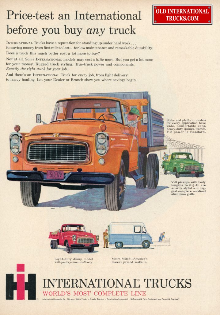 International Truck advertisement 1957 Robert Tate Collection 9