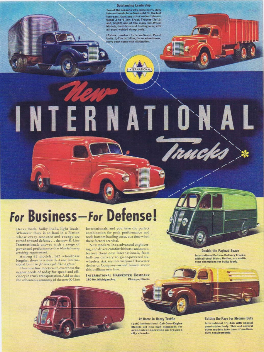 International Truck advertisement featuring all models 1940 Robert Tate Collection RESIZED 4