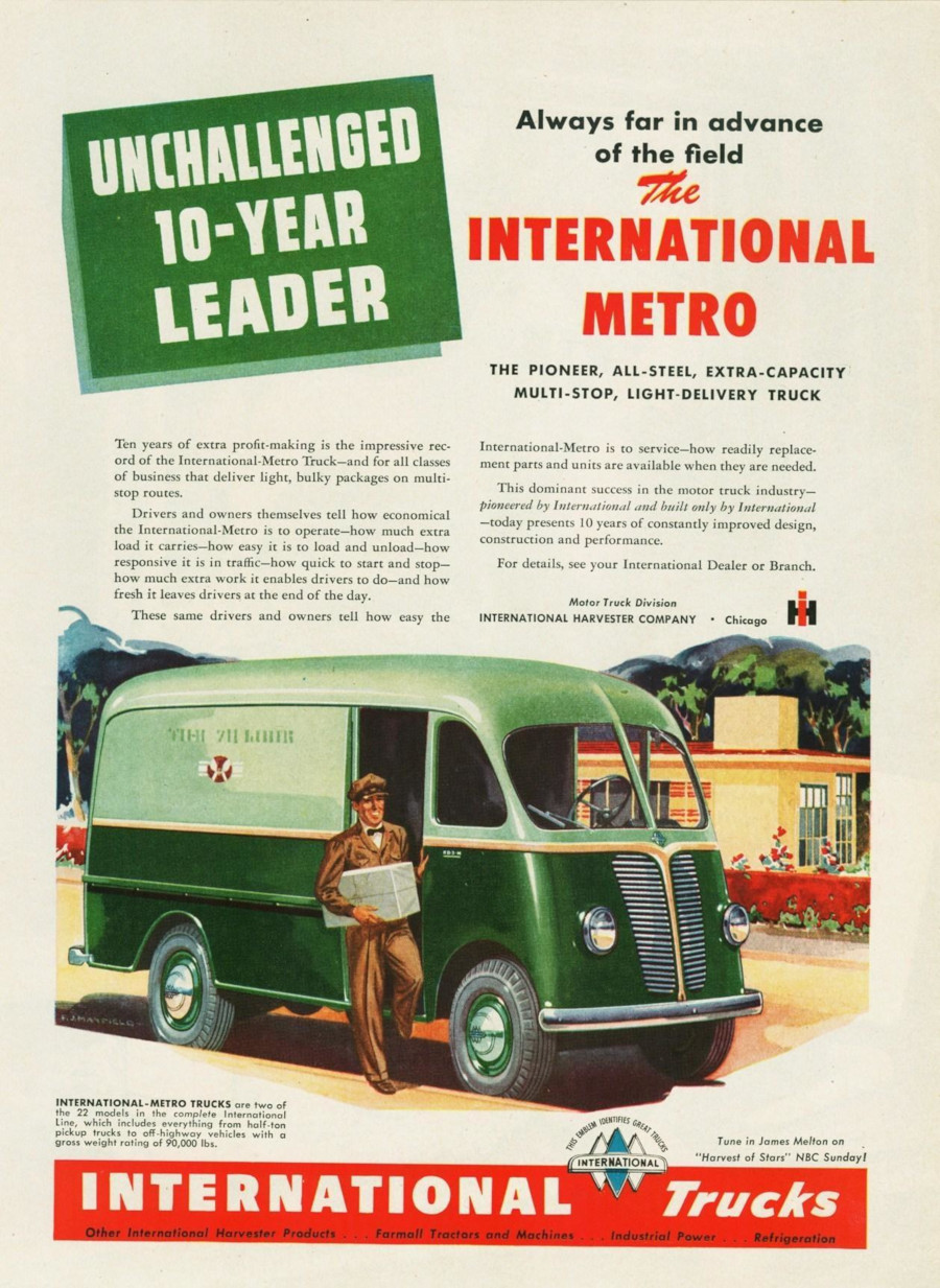 International Trucks ad 1950s Robert Tate Collection RESIZED 6