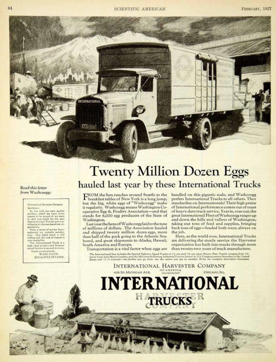 International Trucks advertisement 1927 Robert Tate Collection RESIZED 1