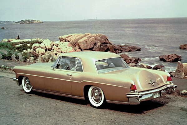 1956 Continental Mark II parked by the ocean Ford Motor Company Archives 5