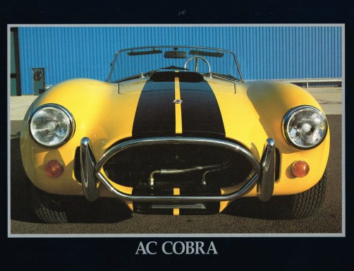A brochure image of an AC Cobra Ford Motor Company Archives 7
