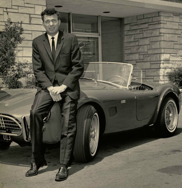 Carroll Shelby with a Cobra Ford Motor Company Archives 1