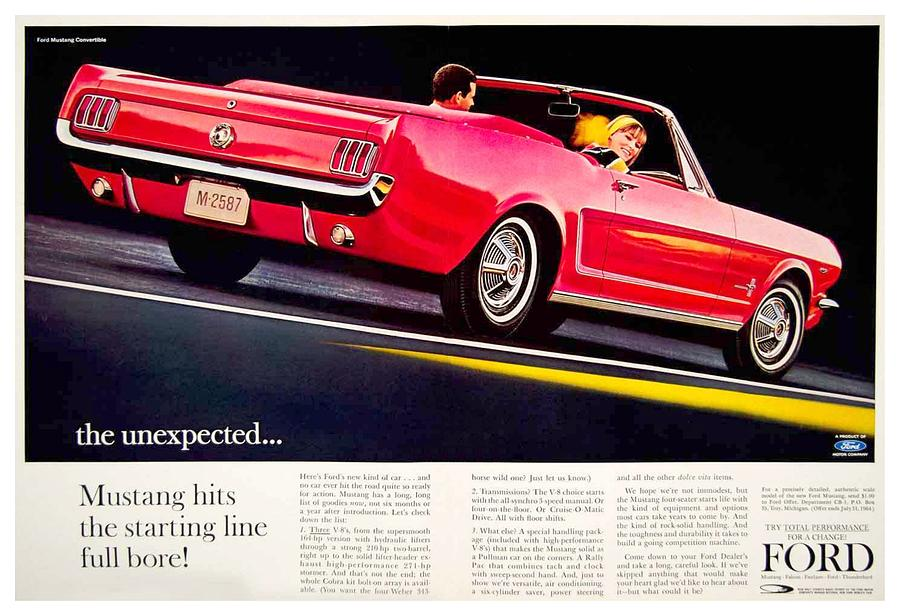 Ford Mustang convertible 1964 print advertisement Ford Motor Company Archives 8