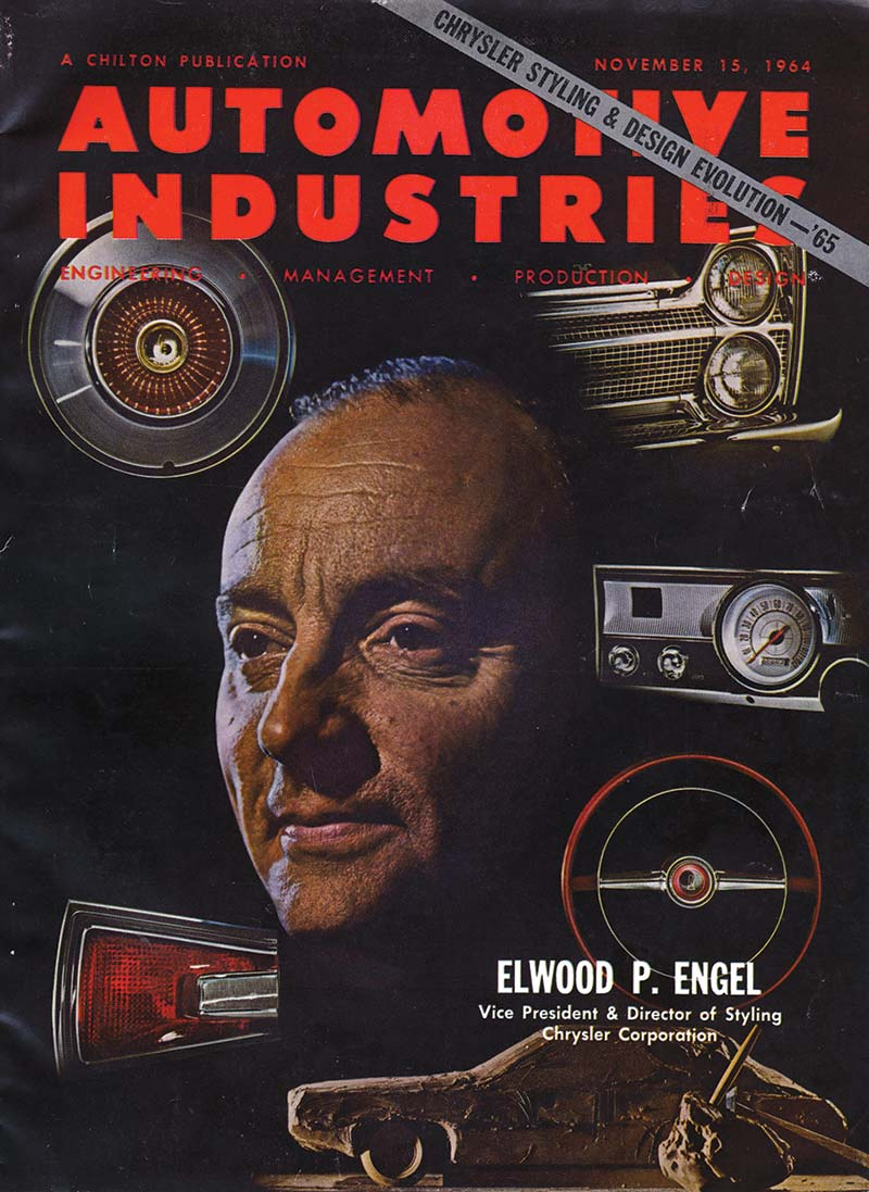 Automotive Industries magazine cover featuring Elwood Engel