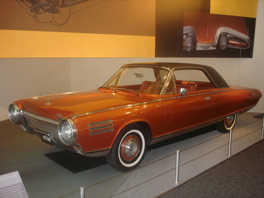 Chrysler Turbine Car on display at the former Walter Chrysler Museum RESIZED 1