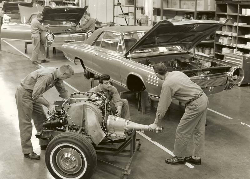 Chrysler Turbine on the assembly line Chrysler Archives 3
