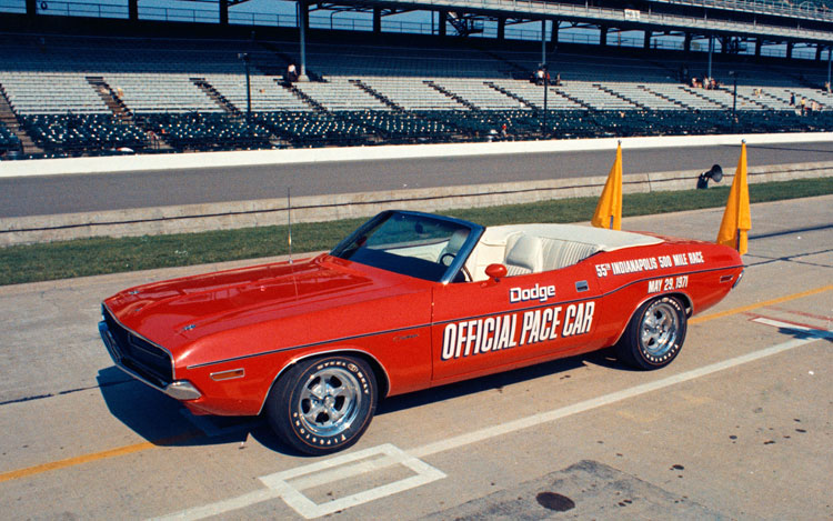 1971 Dodge Challenger Convertible Indy 500 Pace Car Chrysler Archives 4