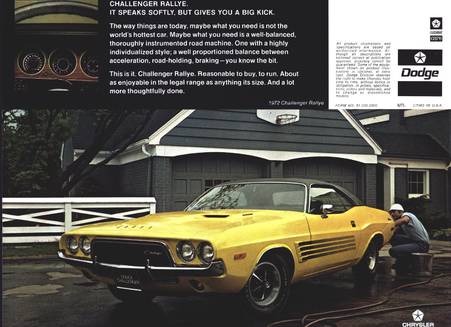 Ad for Dodge Challenger Rallye Chrysler Archives RESIZED 6