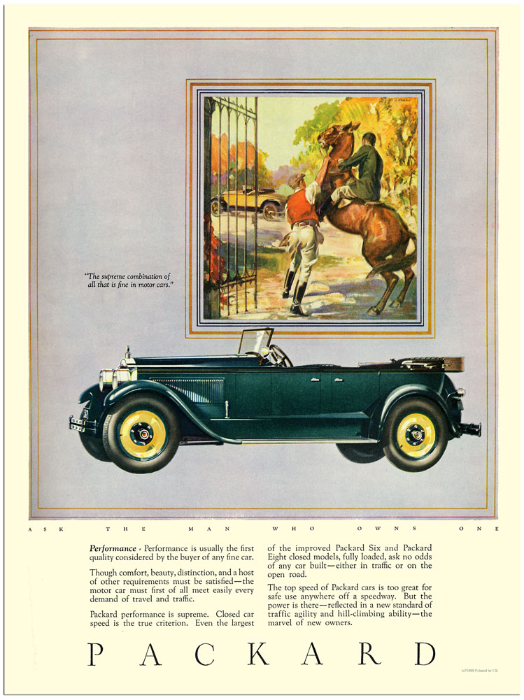 1920s Packard adverising illustration Robert Tate Collection 2