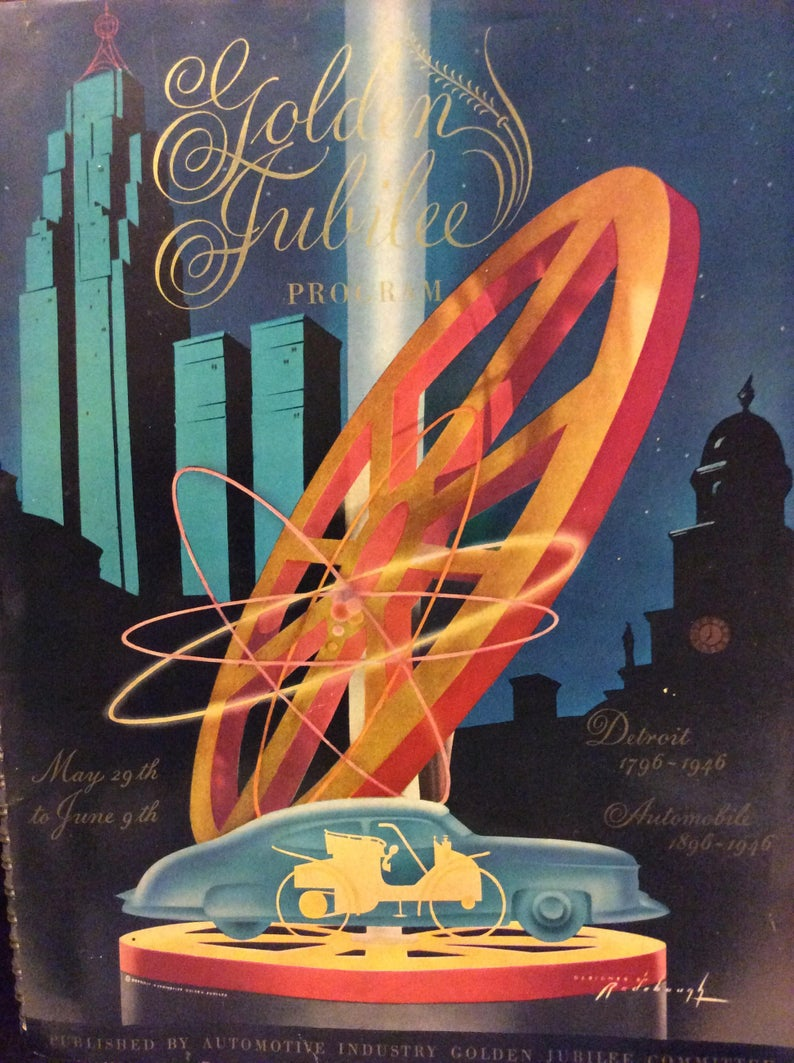 1946 Automotive Golden Jubilee Parade program Arthur Radebaugh 5