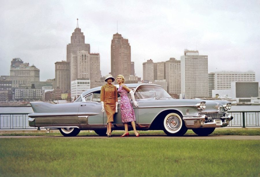 1958 Cadillac photo taken on Belle Isle GM Media Archives RESIZED 7