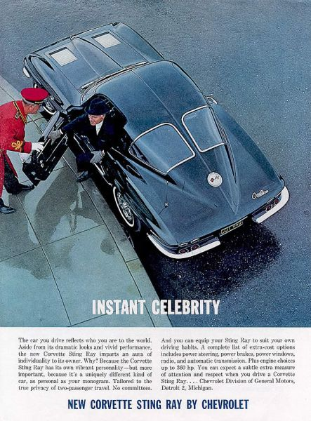 1963 Corvette ad Tate Collection 3